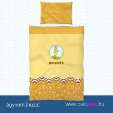 Ovis ágyneműhuzat-Ceruza-sárga ovisjellel