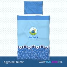 Ovis ágyneműhuzat-Csigabiga-kék ovisjellel