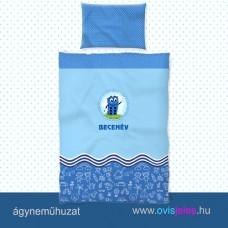 Ovis ágyneműhuzat-Dominó - kék ovisjellel