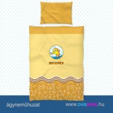 Ovis ágyneműhuzat-Halacska-sárga ovisjellel