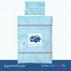 Ovis ágyneműhuzat-Autó-kék ovisjellel 2.tip.