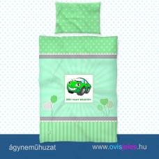 Ovis ágyneműhuzat-Autó-zöld ovisjellel 2.tip.