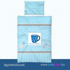 Ovis ágyneműhuzat-Bögre-kék ovisjellel 2.tip.