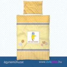 Ovis ágyneműhuzat-Ceruza-sárga ovisjellel 2.tip.