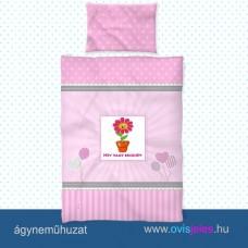 Ovis ágyneműhuzat-Cserepes virág ovisjellel 2.tip.