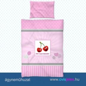 Ovis ágyneműhuzat-Cseresznye ovisjellel 2.tip.