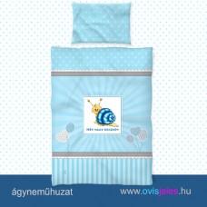 Ovis ágyneműhuzat-Csigabiga-kék ovisjellel 2.tip.
