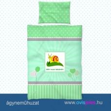 Ovis ágyneműhuzat-Csigabiga-mosolygós ovisjellel 2.tip.