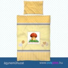 Ovis ágyneműhuzat-Gomba-erdei ovisjellel 2.tip.