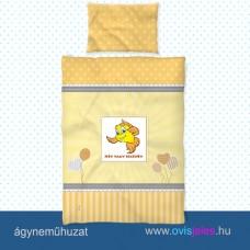 Ovis ágyneműhuzat-Halacska-sárga ovisjellel 2.tip.