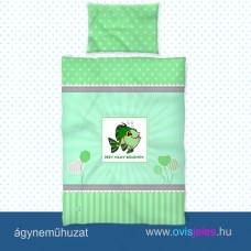 Ovis ágyneműhuzat-Halacska-zöld ovisjellel 2.tip.
