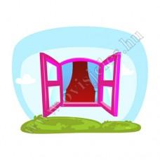 Póló: Ablak-rózsaszín