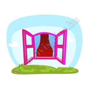 Ovis jeles kötény, hátizsák: Ablak-rózsaszín