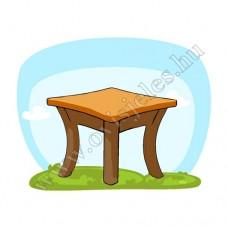 Ovis jeles kötény, hátizsák: Asztal