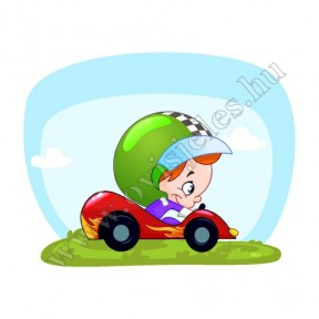 Ovis jeles kötény, hátizsák: Autóversenyző
