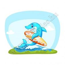 Póló: Cápa-szörfdeszkás