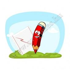 Ovis jeles kötény, hátizsák: Ceruza-piros