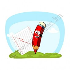 Póló: Ceruza-piros