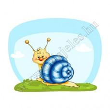Póló: Csiga-kék