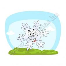 Póló: Hópehelyke