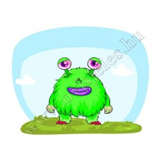 Póló: Monster-zöld