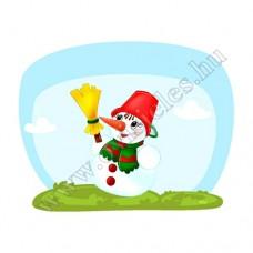 Póló: Hóember-seprűs