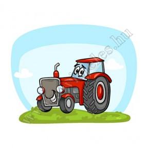 Póló: Traktor-piros