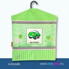 Ovis zsák-Autó-zöld ovisjellel