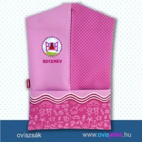 Ovis zsák-Ablak-rózsaszín ovisjellel