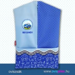 Ovis zsák-Autó-kék ovisjellel