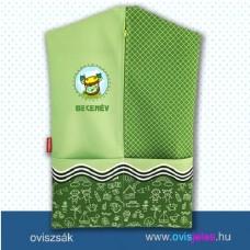 Ovis zsák-Dob-zöld ovisjellel