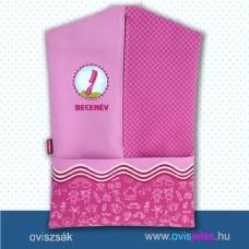 Ovis zsák-Fésű-pink ovisjellel