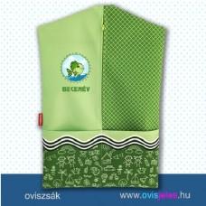 Ovis zsák-Halacska-zöld ovisjellel