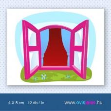 Ablak-rózsaszín -12 db-os ovisjel