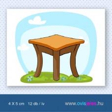 Asztal -12 db-os ovisjel
