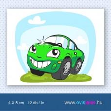 Autó-zöld -12 db-os ovisjel