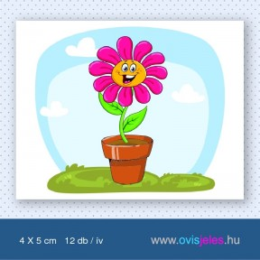 Cserepes virág -12 db-os ovisjel
