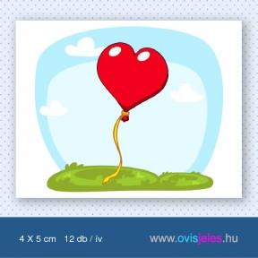 Lufi -szív -12 db-os ovisjel