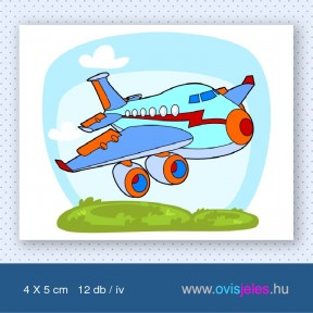 Repülő-utasszállító -12 db-os ovisjel
