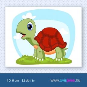 Teknős-ékszer -12 db-os ovisjel
