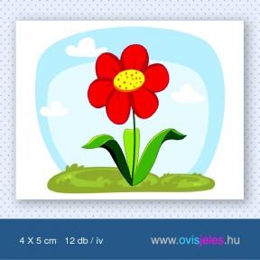 Virág-piros -12 db-os ovisjel