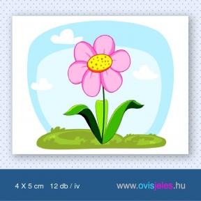 Virág-rózsaszín -12 db-os ovisjel