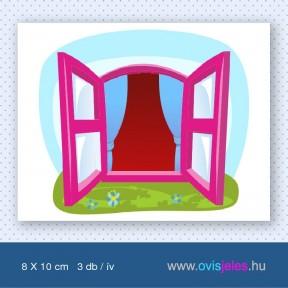 Ablak-rózsaszín -3 db-os ovisjel