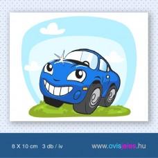 Autó-kék -3 db-os ovisjel