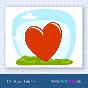 Szív -3 db-os ovisjel