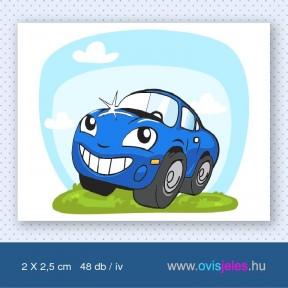 Autó-kék -48 db-os ovisjel