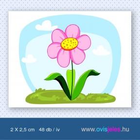 Virág-rózsaszín -48 db-os ovisjel
