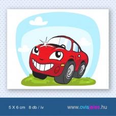 Autó-piros -8 db-os ovisjel