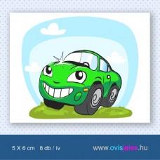 Autó-zöld -8 db-os ovisjel