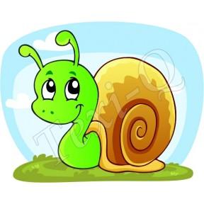 Póló: Csiga-zöld